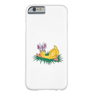 cute sleeping duck and butterfly barely there iPhone 6 case