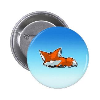 Cute Sleeping Fox Button