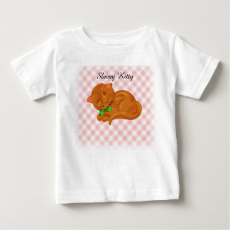 Cute Sleeping Kitten Baby T-Shirt