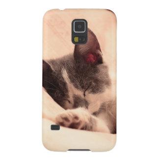 Cute Sleeping Kitten Case For Galaxy S5