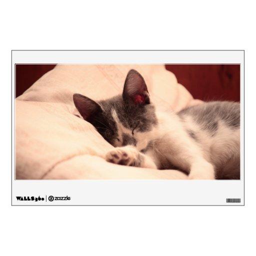 Cute Sleeping Kitten Wall Skin