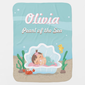 Cute Sleeping Mermaid Baby Girl Blanket
