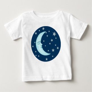 Cute Sleeping Moon Baby Tee