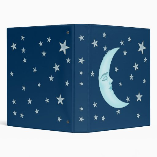 Cute Sleeping Moon Binder