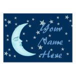 Cute Sleeping Moon Business Cards