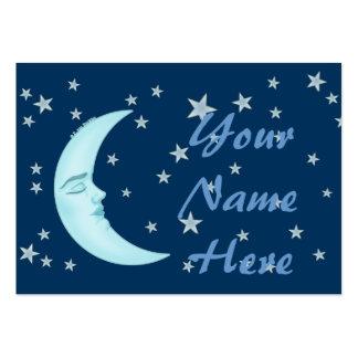 Cute Sleeping Moon Business Cards