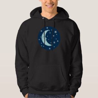 Cute Sleeping Moon Hoodies