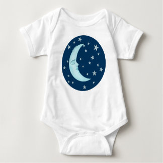 Cute Sleeping Moon Infant Baby Bodysuit