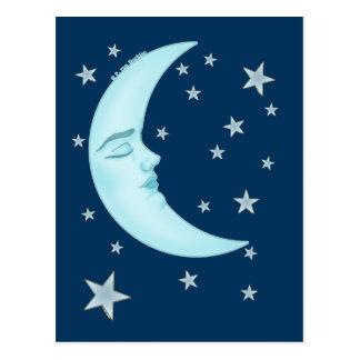 Cute Sleeping Moon Postcards