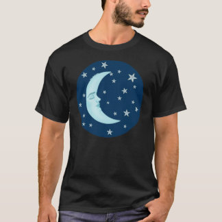 Cute Sleeping Moon T-Shirts