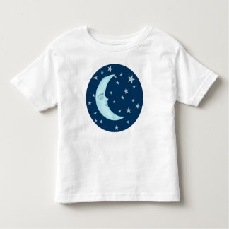 Cute Sleeping Moon Toddler's T-Shirts