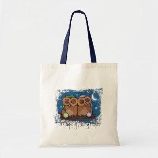 Cute Sleeping Owls Tote Bag