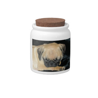 Cute Sleeping Pug Puppy Candy Dishes