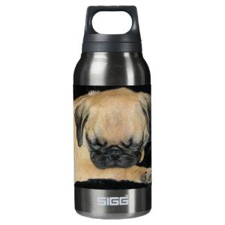 Cute Sleeping Pug Puppy Insulated Water Bottle