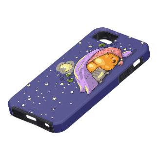 Cute sleeping pumpkin and kitten case iPhone 5 case