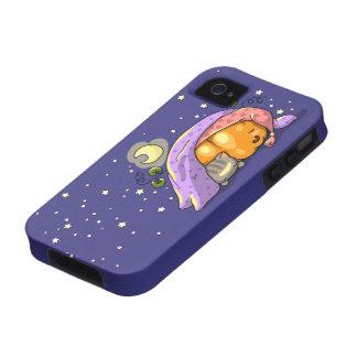 Cute sleeping pumpkin and kitten case vibe iPhone 4 case