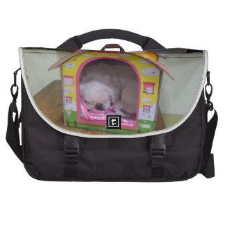 Cute sleeping puppy laptop bag