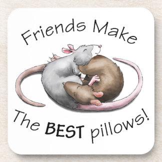 Cute Sleeping Rats Coasters
