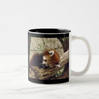 Cute Sleeping Red Panda w/ Food in Its Mouth Mug