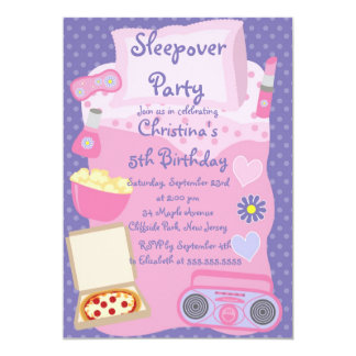 Girls Slumber Party Invitations Announcements Zazzle