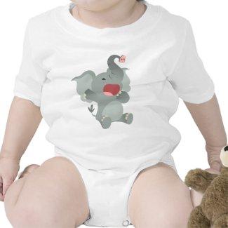 Cute Sleepy Cartoon Elephant Baby T-Shirt shirt