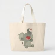 Cute Sleepy Cartoon Elephant  Bag