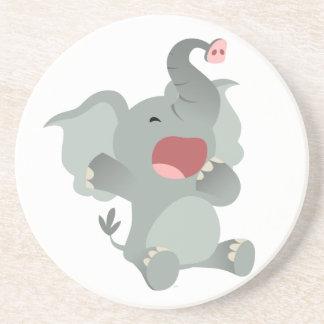 Cute Sleepy Cartoon Elephant Coaster