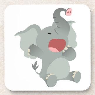 Cute Sleepy Cartoon Elephant Coasters Set