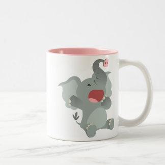 Cute Sleepy Cartoon Elephant Mug