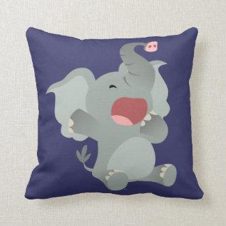 Cute Sleepy Cartoon Elephant Pillow