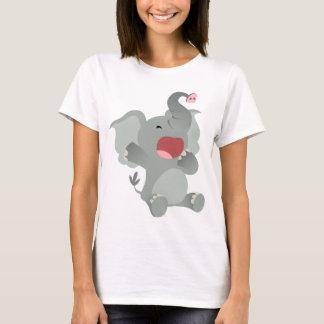 Cute Sleepy Cartoon Elephant  Women T-Shirt