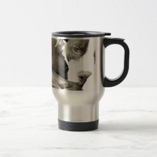 cute sleepy lazy pit bull dog coffee mug