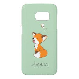 Cute Sleepy Little Fox Samsung Galaxy S7 Case