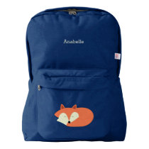 Cute Sleepy Red Fox Backpack