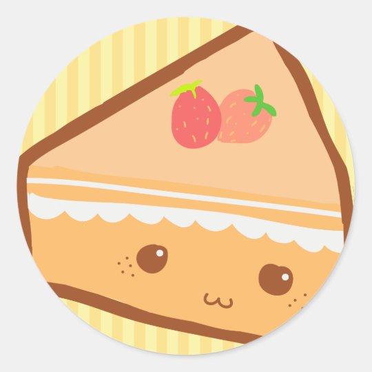 Cute Slice Classic Round Sticker
