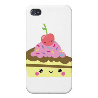 Cute Slice of Kawaii Ice Cream Cake Cases For iPhone 4