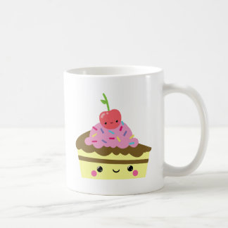 Cute Slice of Kawaii Ice Cream Cake Classic White Coffee Mug