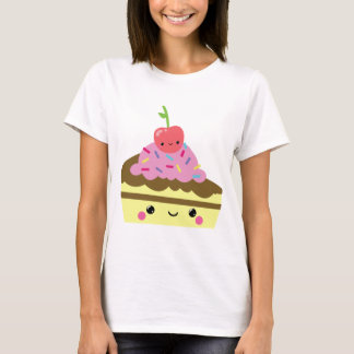 Cute Slice of Kawaii Ice Cream Cake T-Shirt