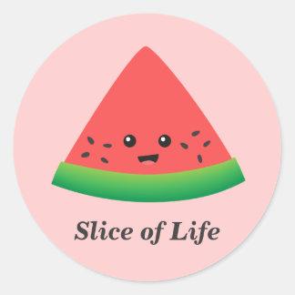 Cute Slice of Watermelon Classic Round Sticker