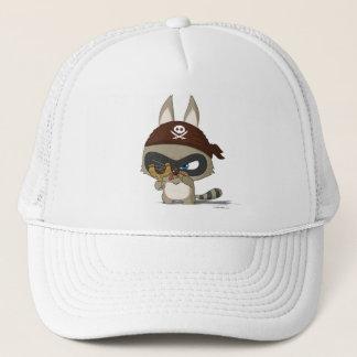 Cute slingshot cap raccoon cartoon character hat
