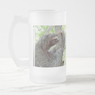 Cute Sloth 16 Oz Frosted Glass Beer Mug