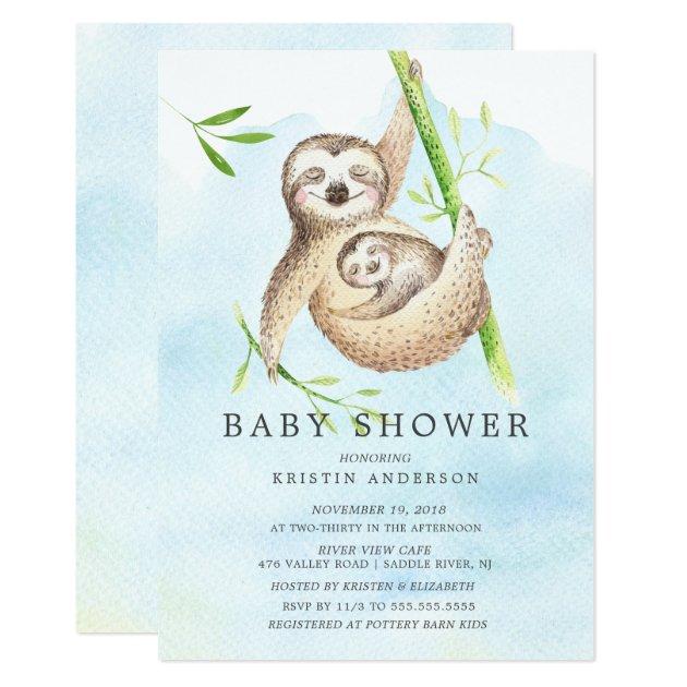 Cute Sloth Baby Shower Invitation   Zazzle.com