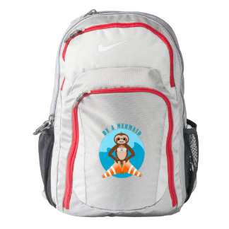 Cute Sloth Be a Mermaid Backpack