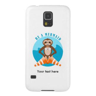 Cute Sloth Be a Mermaid Case For Galaxy S5