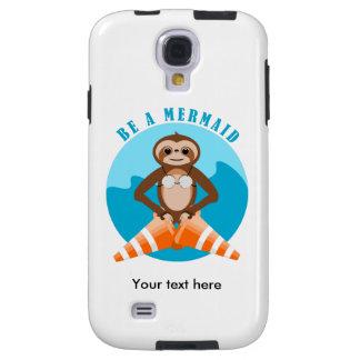 Cute Sloth Be a Mermaid Galaxy S4 Case