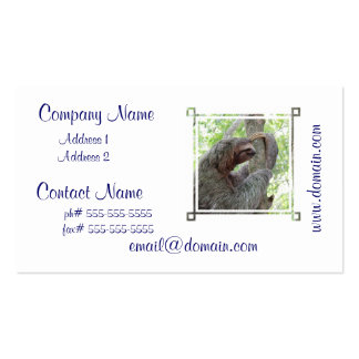 Cute Sloth Double-Sided Standard Business Cards (Pack Of 100)