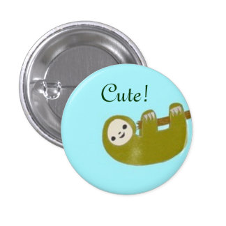 Cute Sloth 1 Inch Round Button