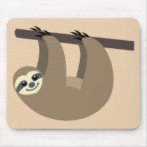 Cute Sloth Cartoon Mouse Pad