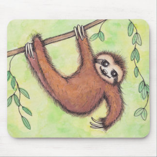 Cute Sloth Mouse Pad