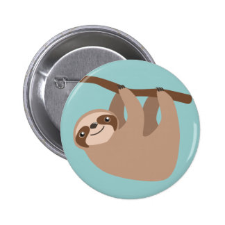Cute Sloth on a Branch 2 Inch Round Button